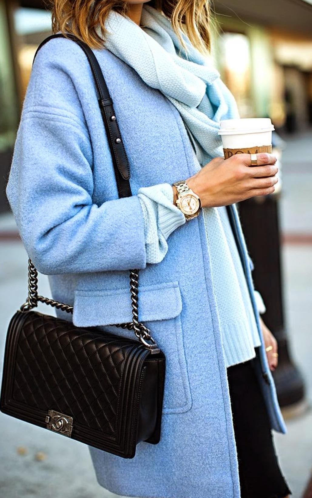 Image result for light blue wool coat